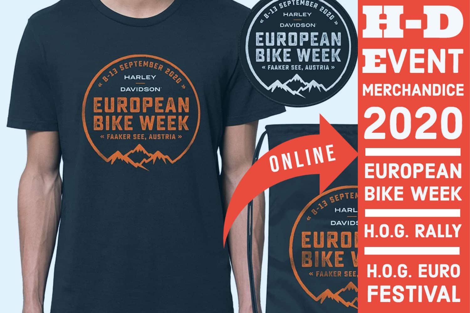 EUROPEAN BIKE WEEK 2020 MERCHANDISE VORBESTELLUNG