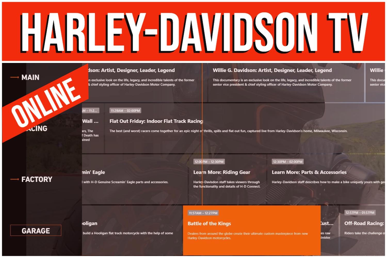 HARLEY-DAVIDSON TV IST ONLINE