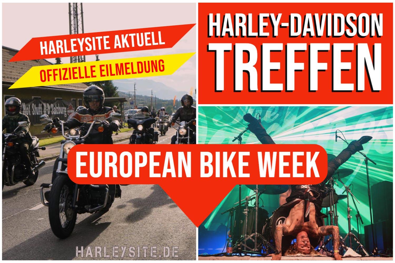 Aktuelle Meldung zur European Bike Week - Harley-Davidson Treffen
