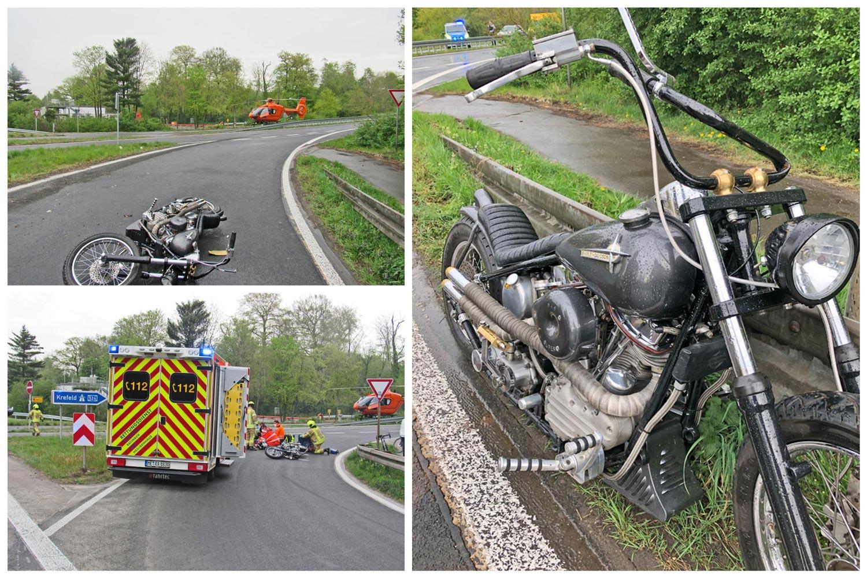 Motorradunfall in Ratingen