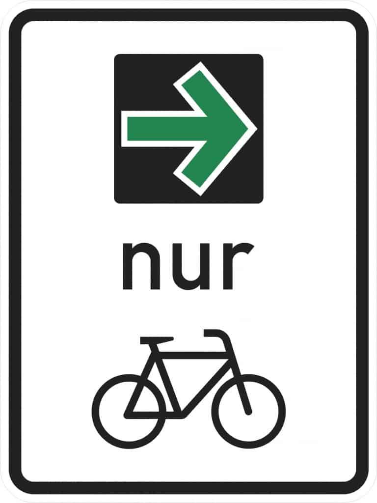 Grünpfeil für Fahrradfahrer