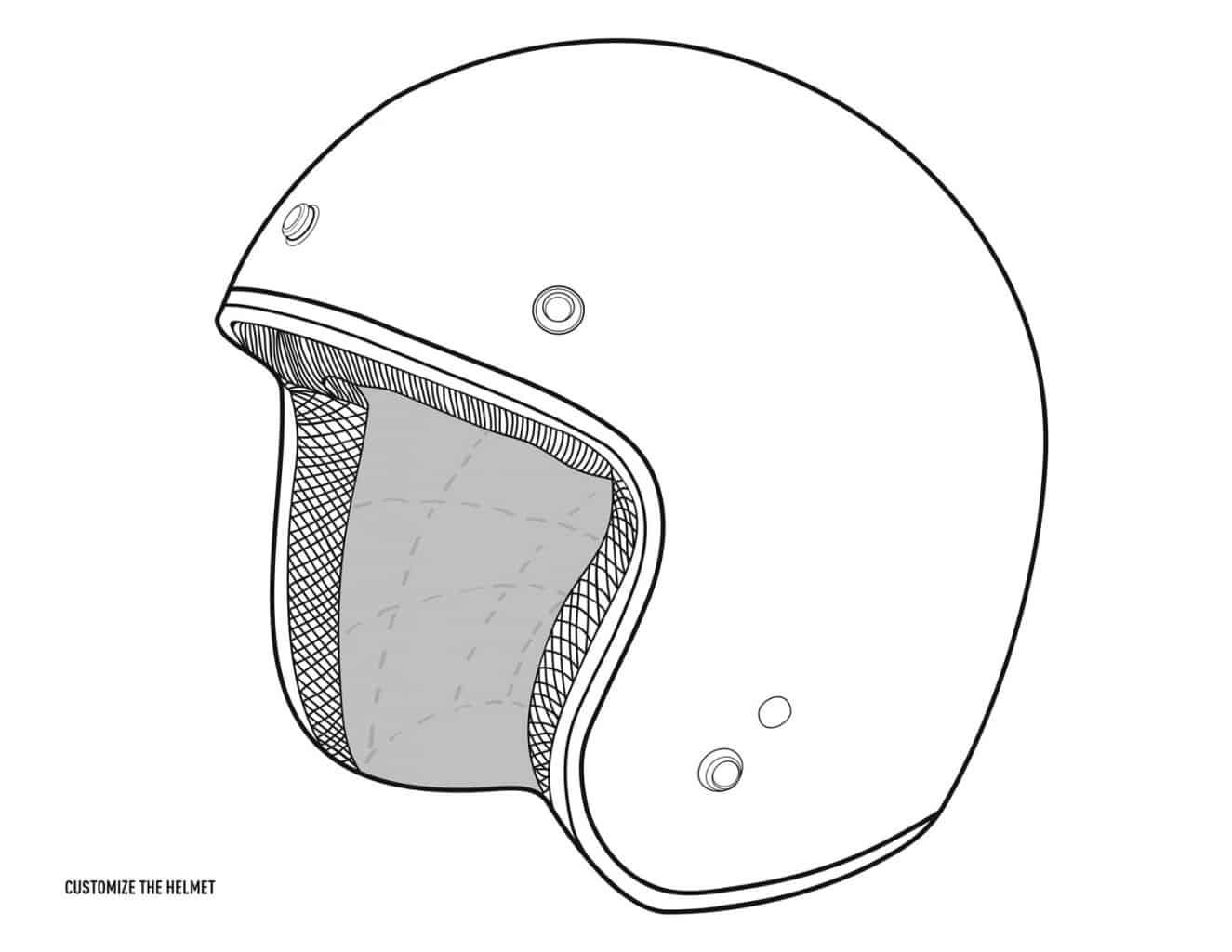 Harley-Davidson Helm zum Ausmalen