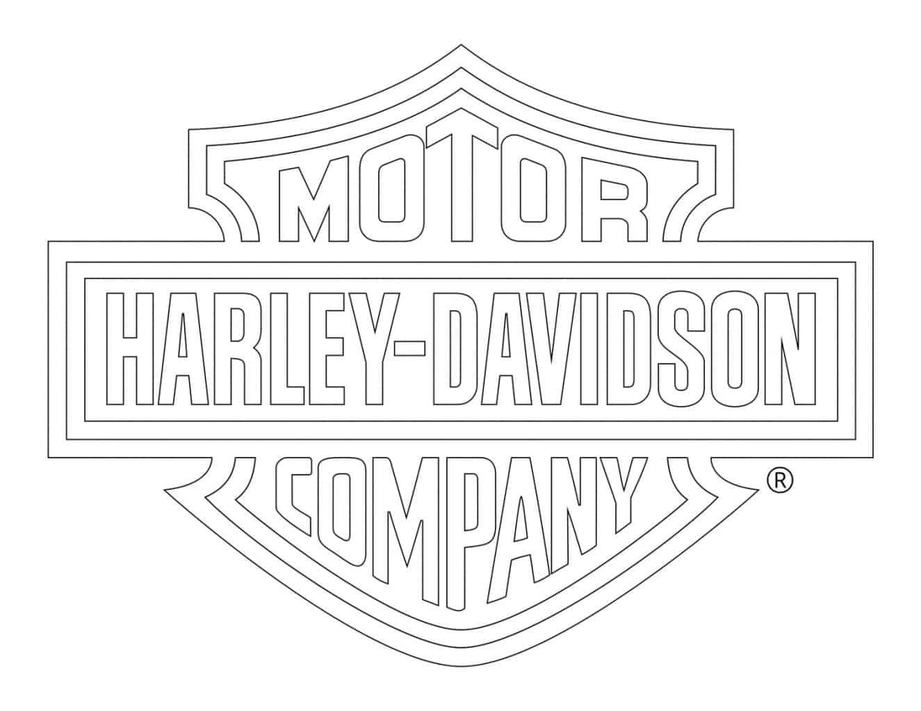 Harley-Davidson Logo zum Ausmalen