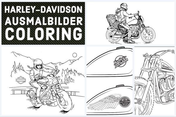 Harley-Davidson Ausmalbilder