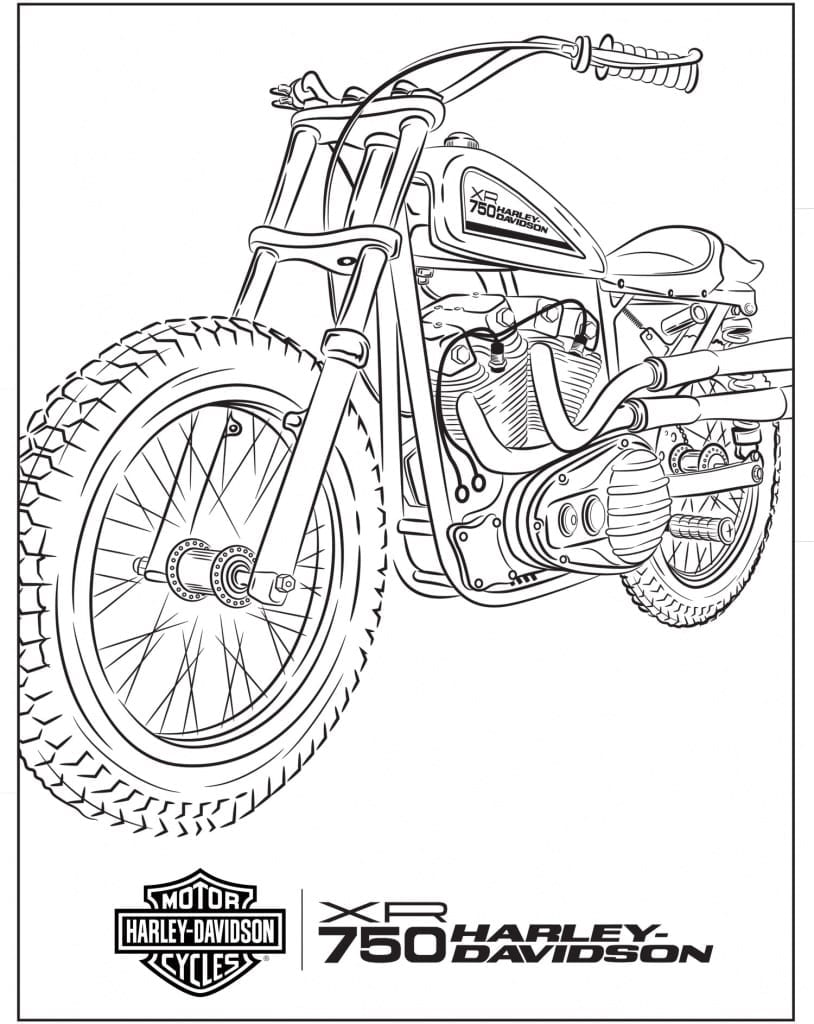 Harley-Davidson_XR750_Coloring