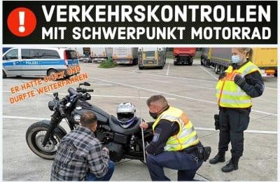 VERKEHRSKONTROLLEN MIT SCHWERPUNKT MOTORRAD ZU PFINGSTEN