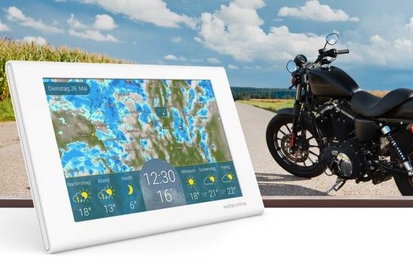 Smarter Biker-Guide: Gut informiert dank Unwetterwarnung und großem Wetterradar