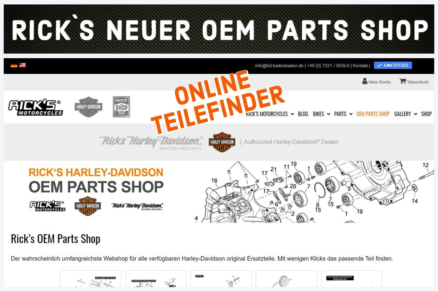 Ricks OEM Parts-Shop Harley-Davidson Teile