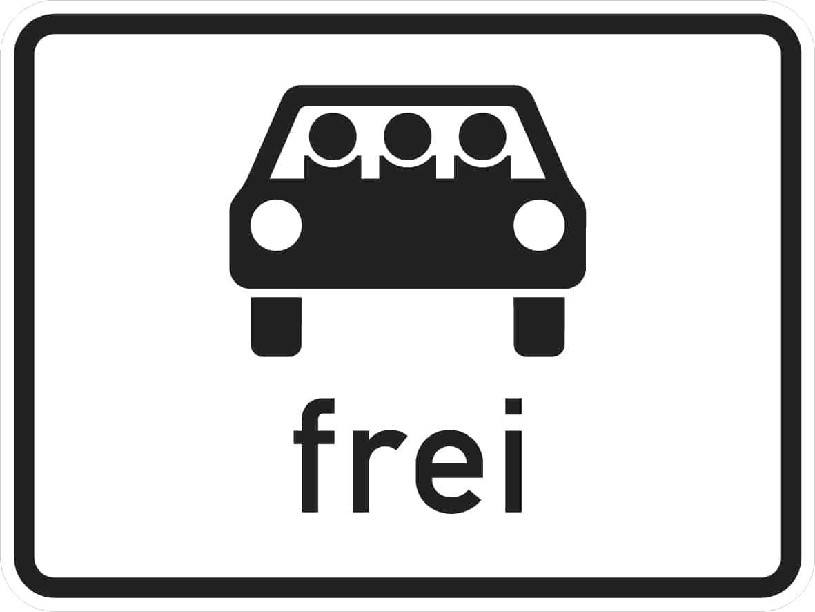 Mehrfachbesetzte Personenkraftwagen