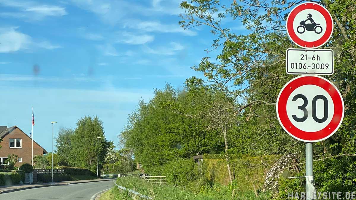 Motorradfahrverbot Behrensdorf Ostsee