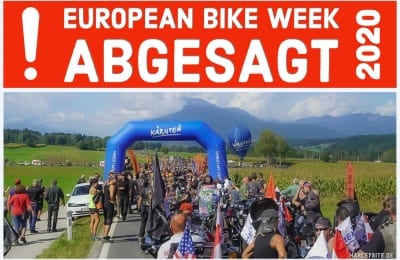 DIE EUROPEAN BIKE WEEK 2020 ABSAGE