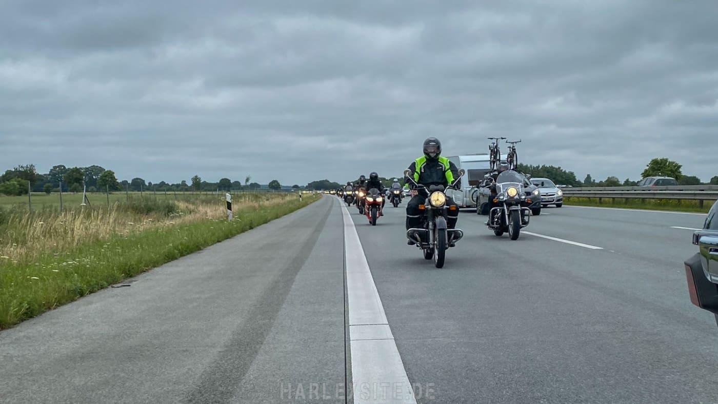 Auf der A7 in Richtung Hamburg