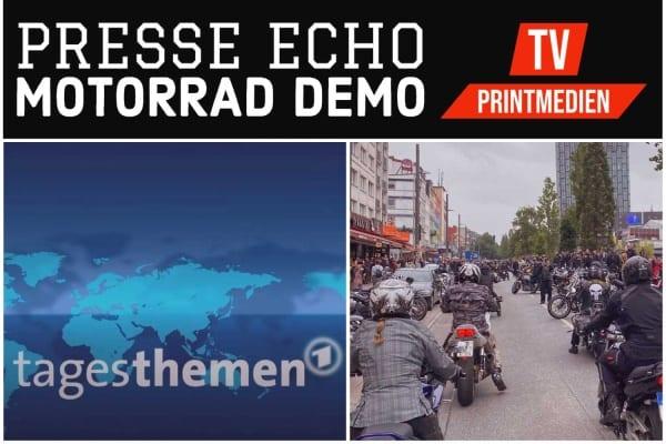DEMO gegen drohende Fahrverbote für Motorradfahrer - Das Presse Echo