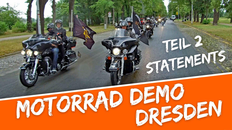 Motorrad Demo Dresden