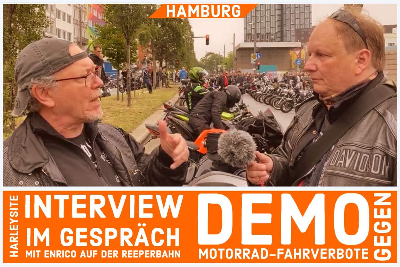 Motorrad Fahrverbote DEMO in Hamburg 2020 - Interview mit Enrico