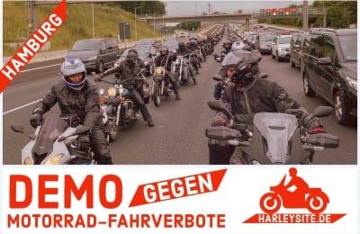 DEMO GEGEN MOTORRAD-FAHRVERBOTE HAMBURG