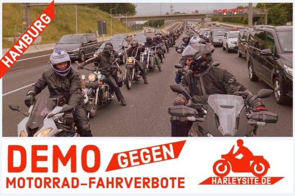 Demo gegen Motorrad Fahrverbote in Hamburg