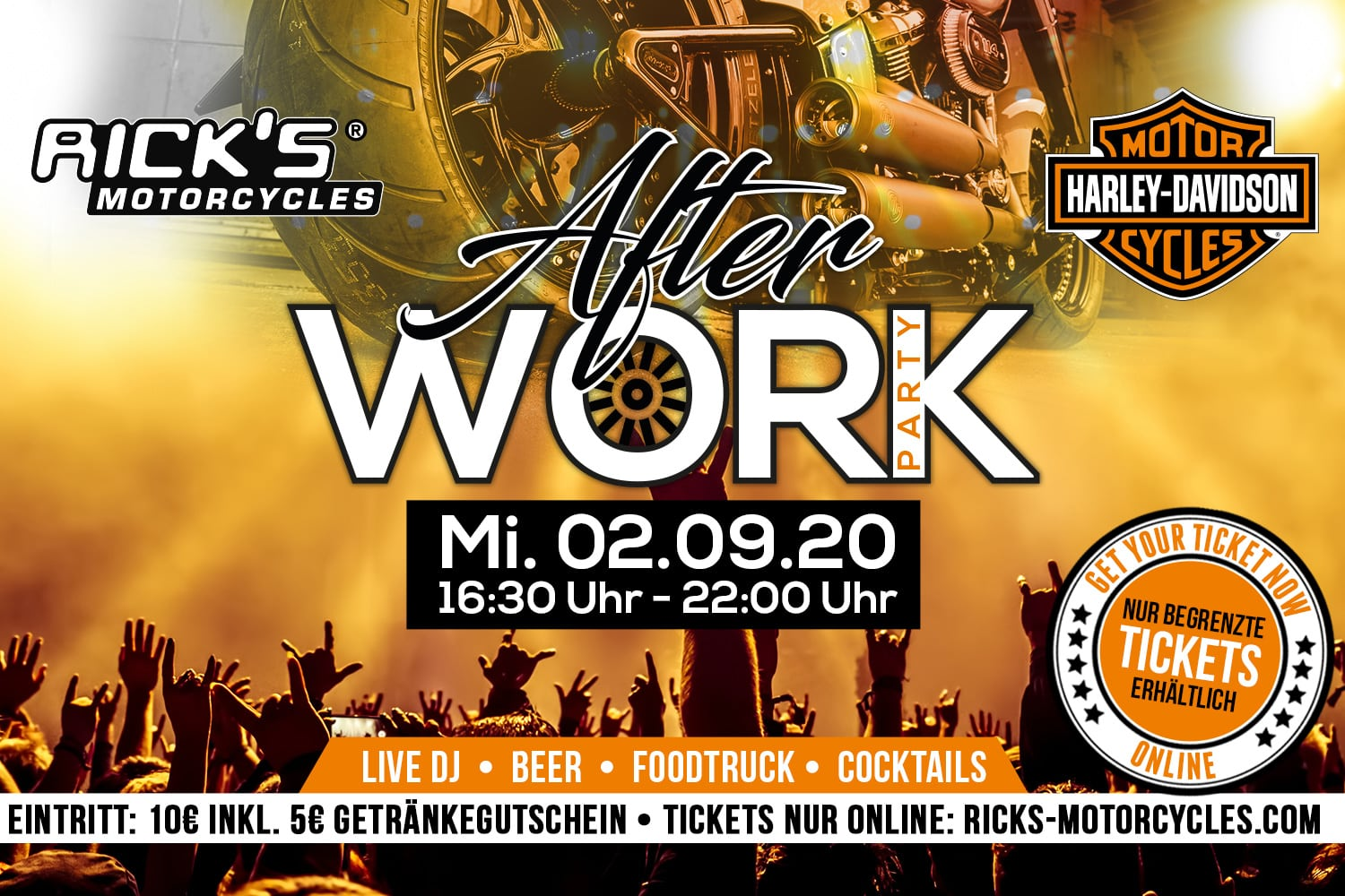 Rick´s After Work Party am 2. September 2020
