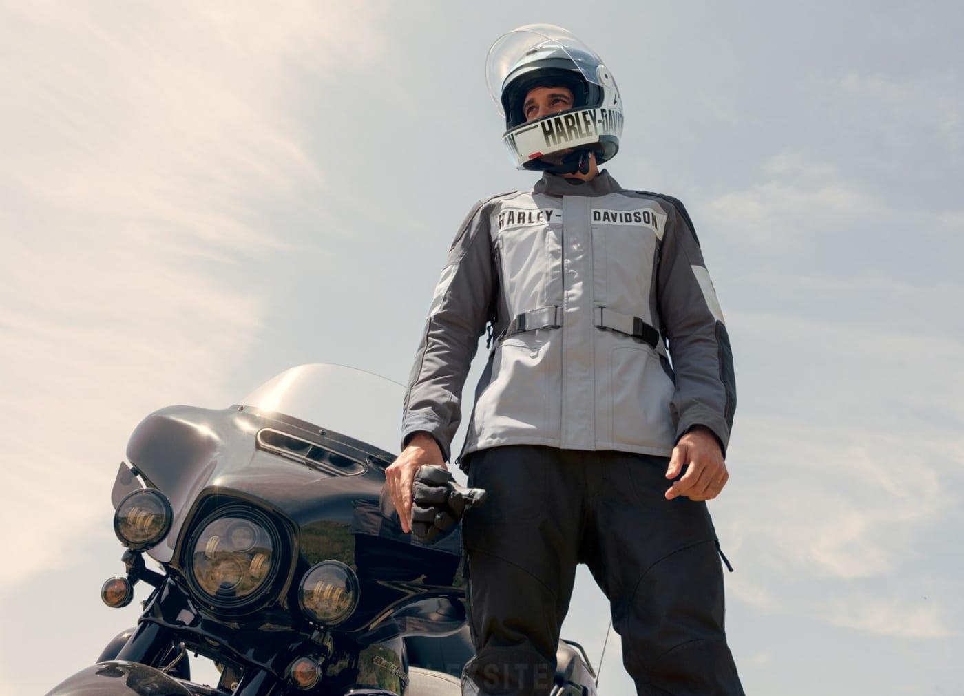 Harley-Davidson Vanocker Jacke und Helm