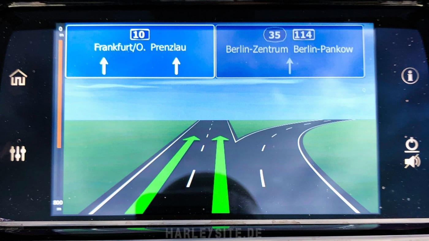 Die Navigation der Road Glide Limited 2020