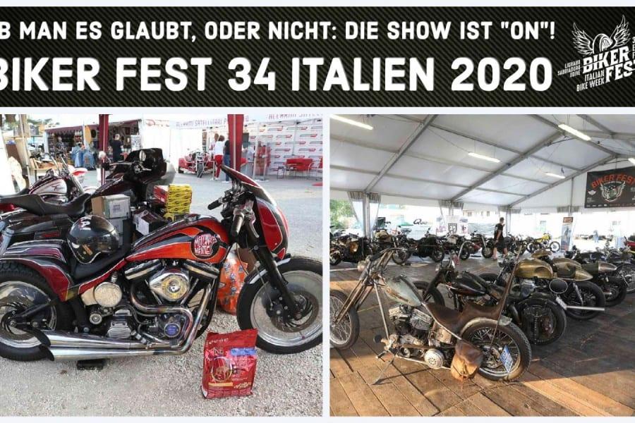 """Das Biker Fest 34 Italien 2020 ist """"ON"""""""