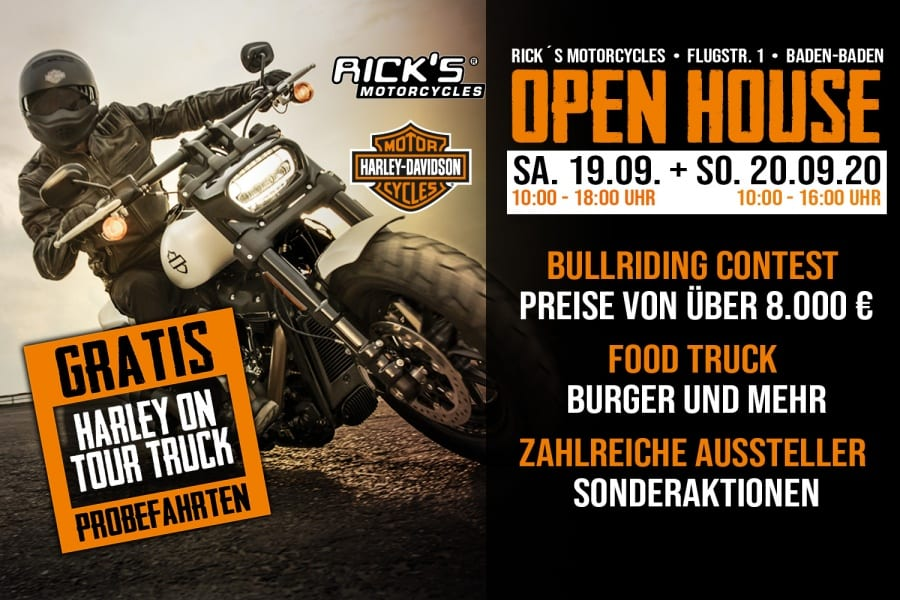 OPEN HOUSE BEI RICK´S MOTORCYCLES IN BADEN-BADEN