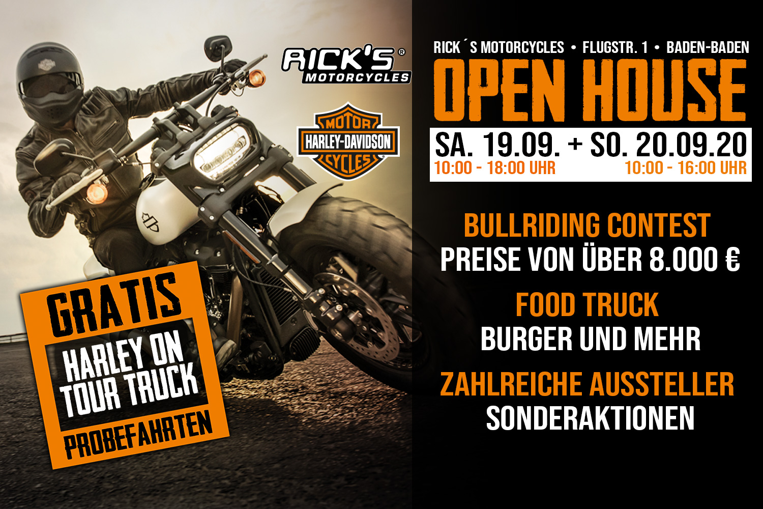 Rick´s Motorcycles Open House im September 2020