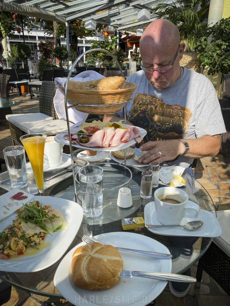 Frühstück in Velden