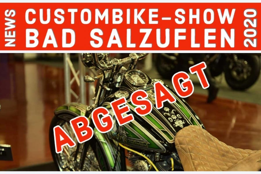 ABGESAGT – CUSTOMBIKE SHOW 2020 – BAD SALZUFLEN