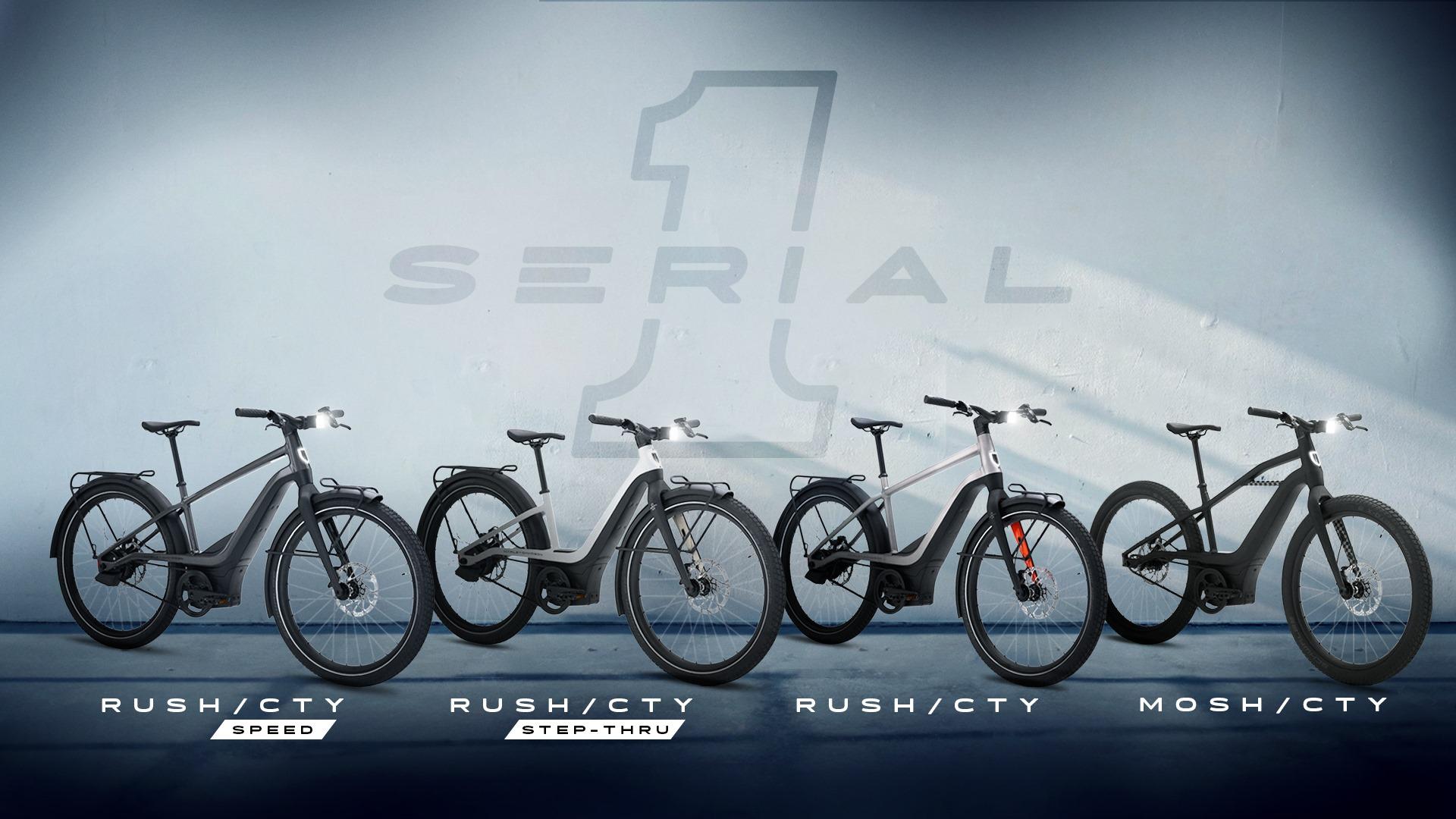 E-Bikes Serial 1 Bicycles mit Harley-Davidson Antrieb
