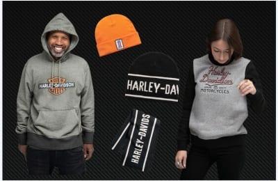 Warme Hoodies, Sweatshirts, Mützen und Schals von Harley-Davidson