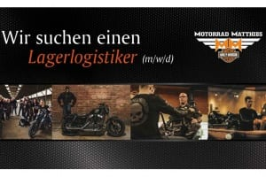 Gesucht wird ein Lagerlogistiker bei Motorrad Matthies in 78532 Tuttlingen