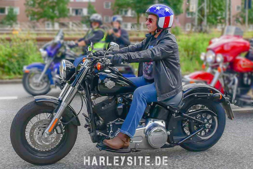 Jan Hofer auf der Harley-Davidson unterwegs- Hamburg Harley Days 2016