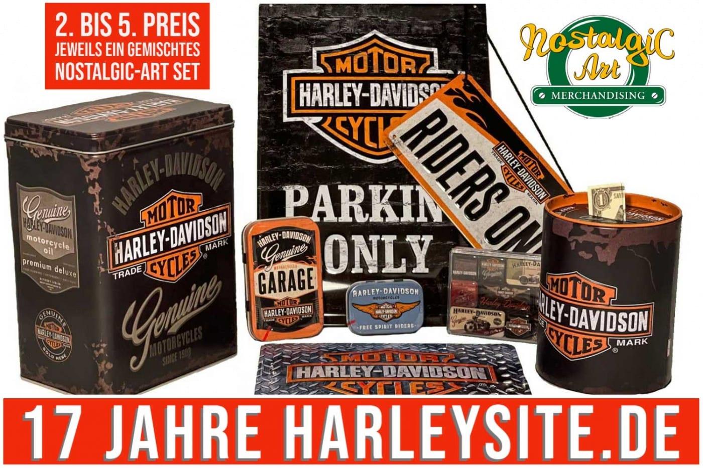 Harley-Davidson Dosen und Schilderset Von Nostalgic-Art