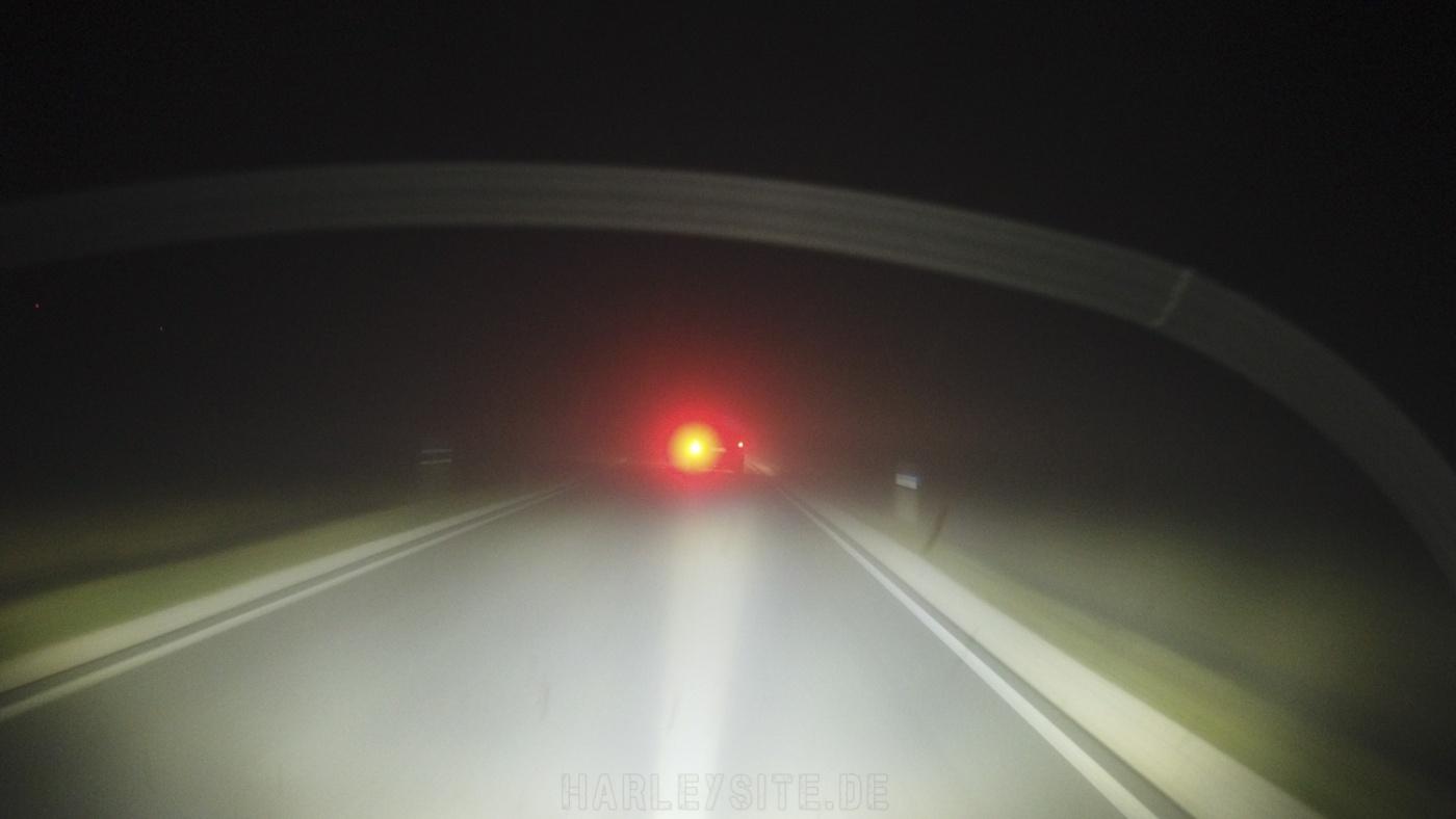 Auf der Ultra Limited bei Nebel unterwegs