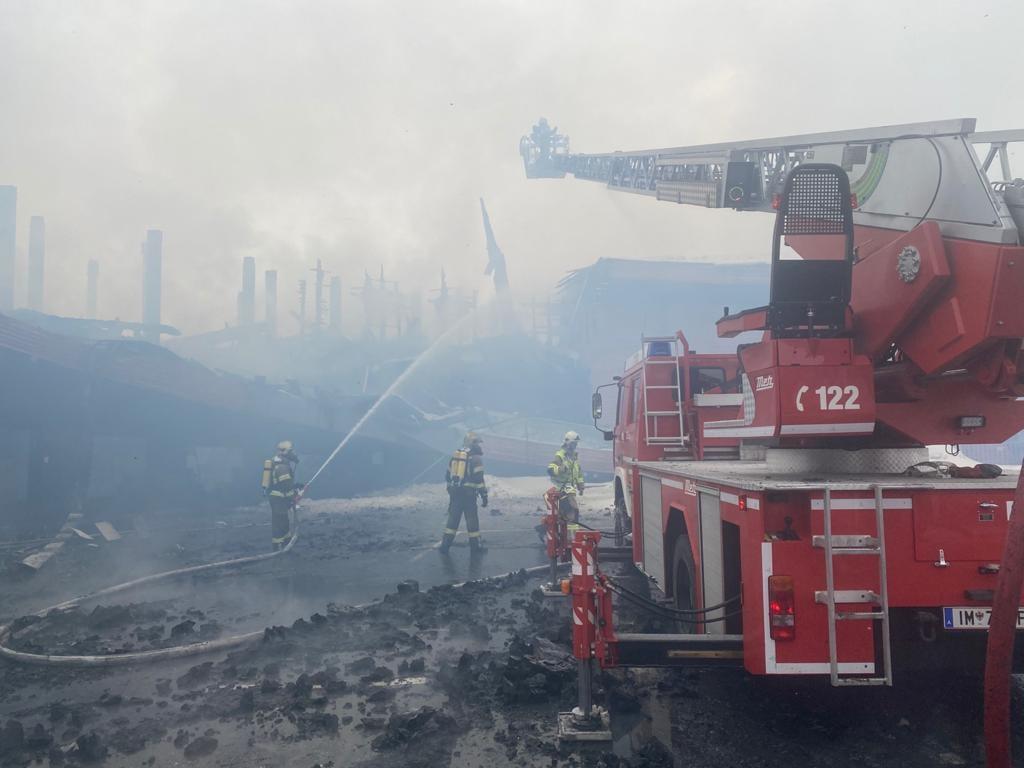 Vigili del fuoco in fiamme