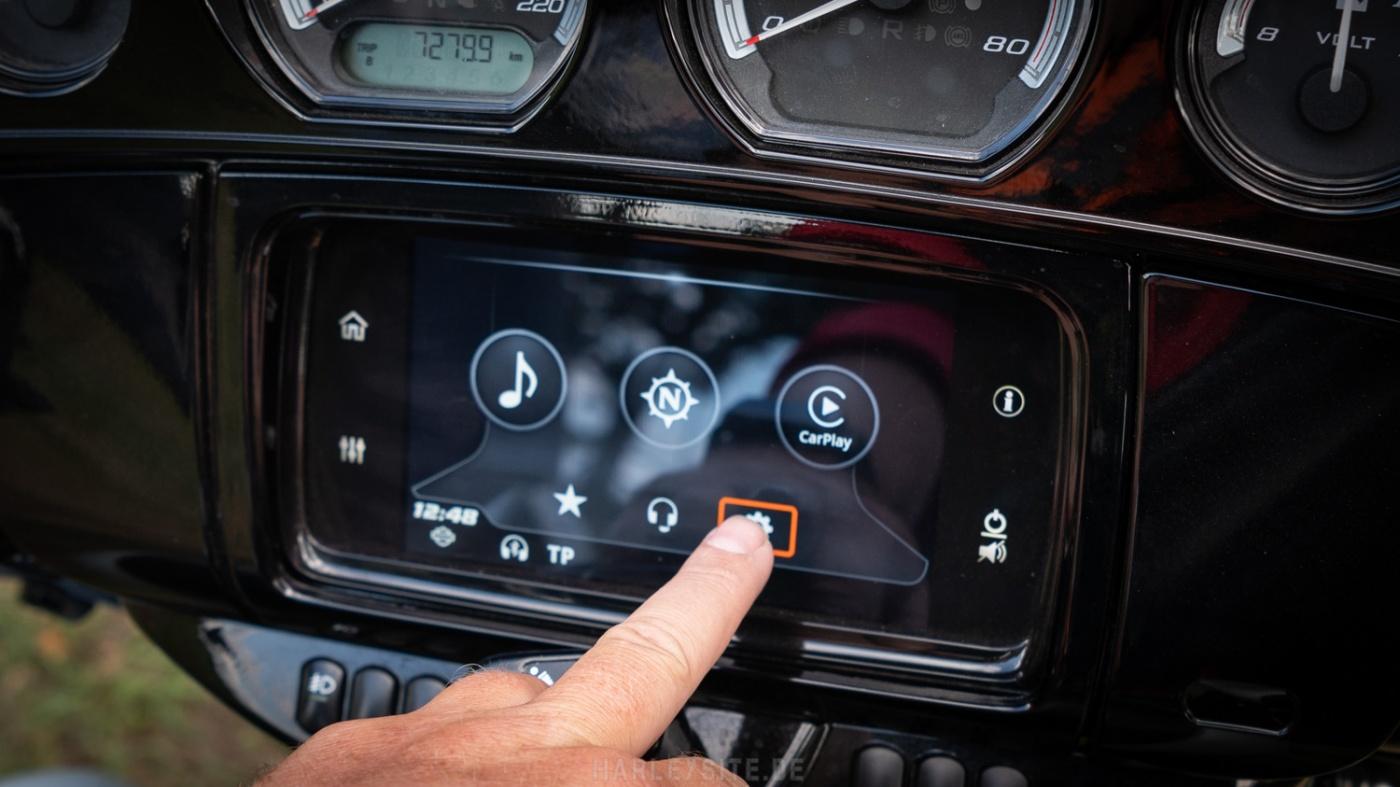 Boom! Box Infotainment-System von Harley-Davidson mit Apple Carplay