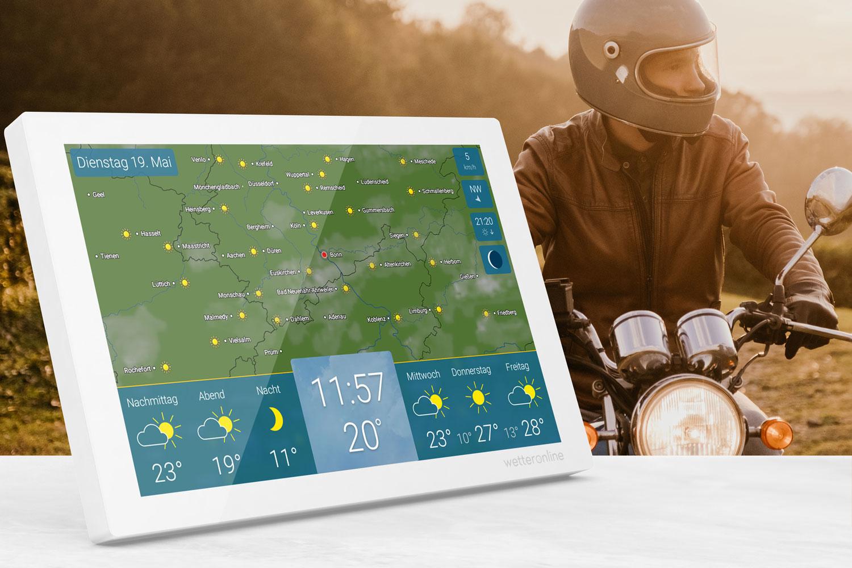 Smartes Gadget für Biker: die Wetterstation wetteronline home im neuen Design