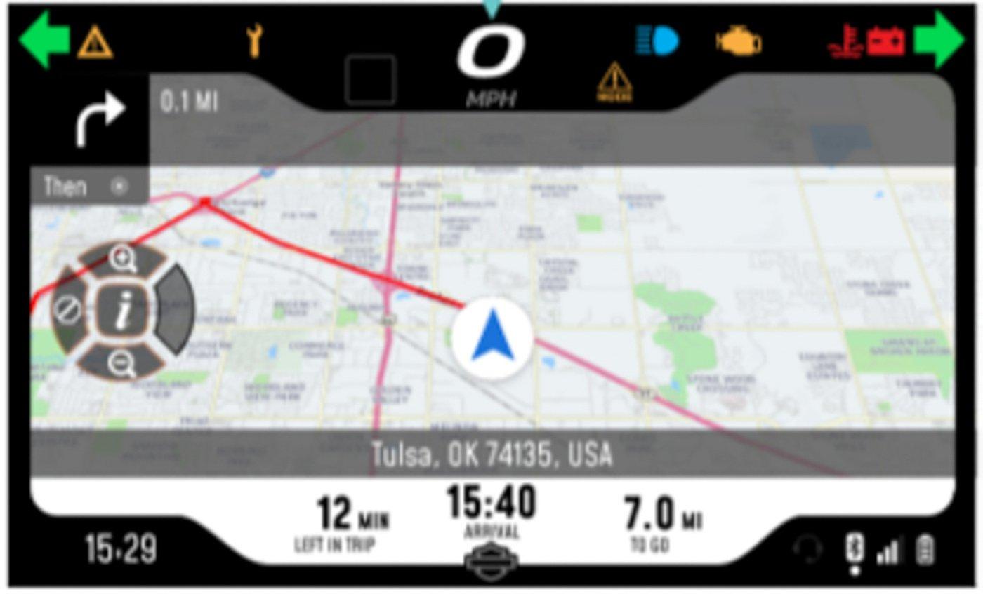Navigation - Harley-Davidson Pan America Screen