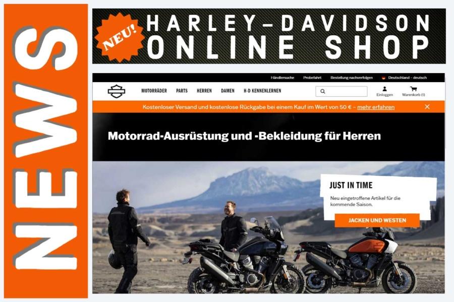 Der neue Harley-Davidson Online-Shop ist online