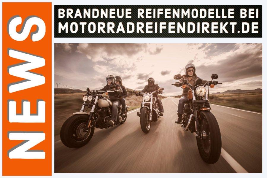 Brandneue Reifenmodelle bei MotorradreifenDirekt.de