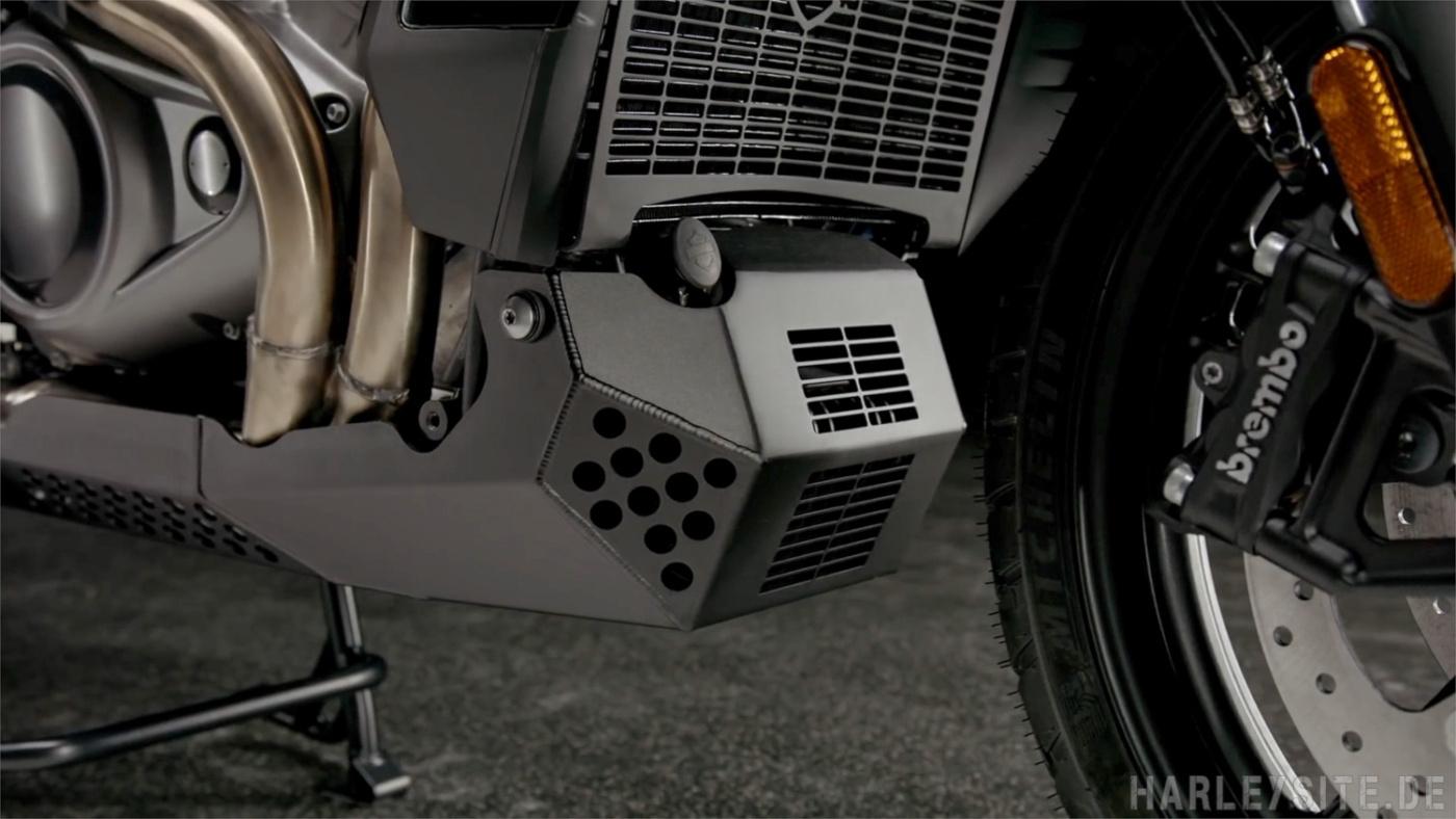 Der Unterfahrschutz für die Pan America von Harley-Davidson