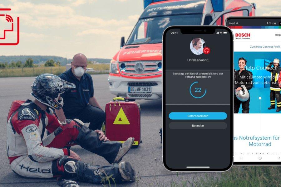 calimoto startet mit Bosch automatisches Notrufsystem für Motorradfahrer