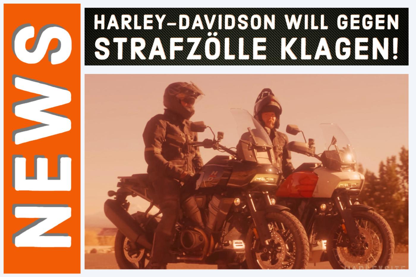 Harley-Davidson CEO Jochen Zeitz rechts, auf der Pan America unterwegs.