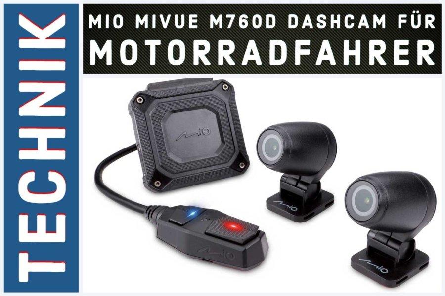 Mio MiVue M760D Dashcam für Motorradfahrer