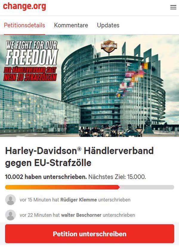 Harley-Davidson Strafzölle