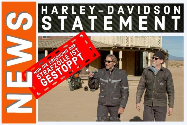 Harley-Davidson Strafzölle Statement