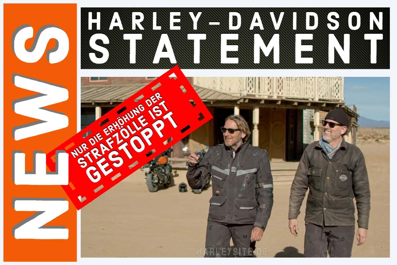 Harley-Davidson Statement zum Zollstreit