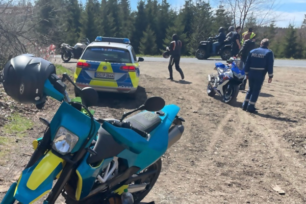 Polizeikontrolle Harz - Bildnachweis: Polizei Goslar