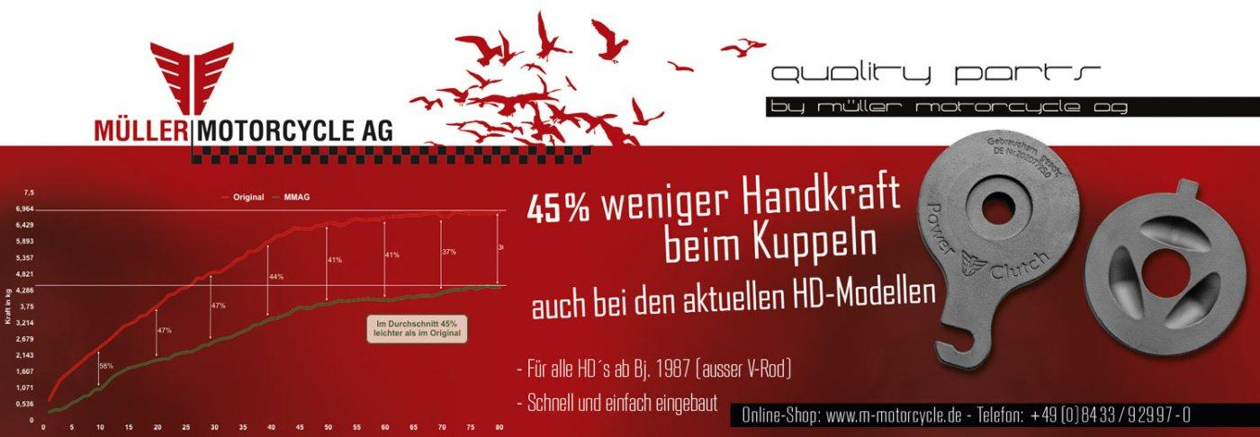Kupplungserleichterungen - Power Clutch  von Müller Motorcycles, für H-D Modelle 2021